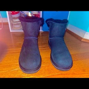 Black Ugg Mini Bailey Boot Size Womens 8
